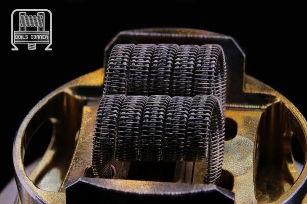 """Mini-Staggerton"" Ø 3mm - SS304 | 0.12Ω Dual-Set"