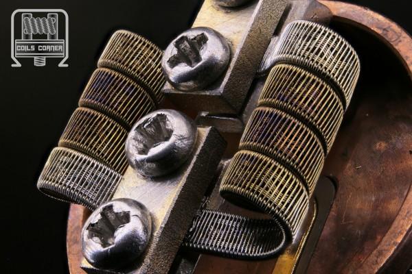 Corrugated Staple - N80 - 3 Wraps Ø 3mm   0.07Ω Dual-Set