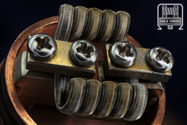 Groove Fused Staggerton (Framed Staple) - 4 Wraps Ø 3mm | 0.08Ω Dual-Set